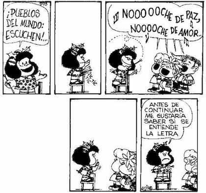 ,NOCHE DE PAZ, MAFALDA QUINO