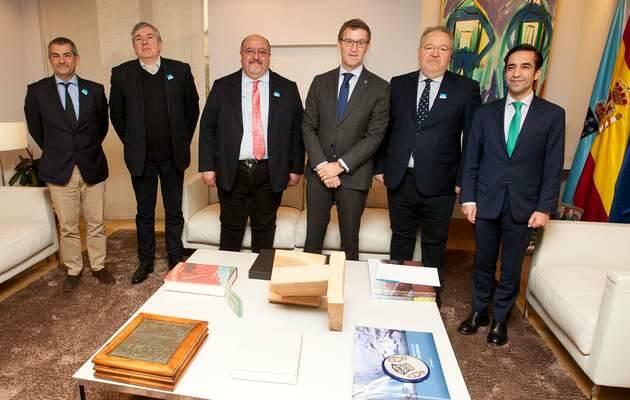 Foto oficial del encuentro / Xunta de Galicia,evangélicos galicia, nuñez feijoo