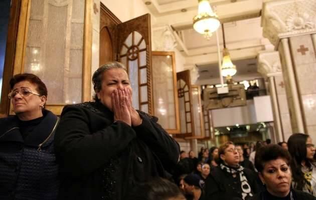 Imagen en la iglesia tras el atentado / Efe,iglesia copta, coptos egipto