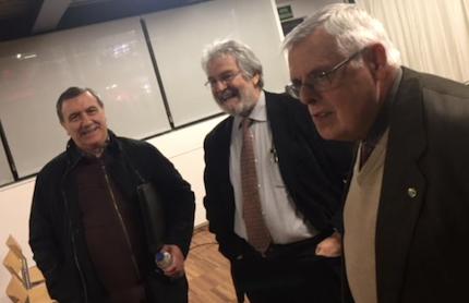 Julio Pérez, Roberto Velert y Pedro Puigvert. / E. Pradales