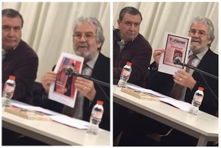Roberto Velert y Julio Pérez, en un momento de la charla. / E. Pradales