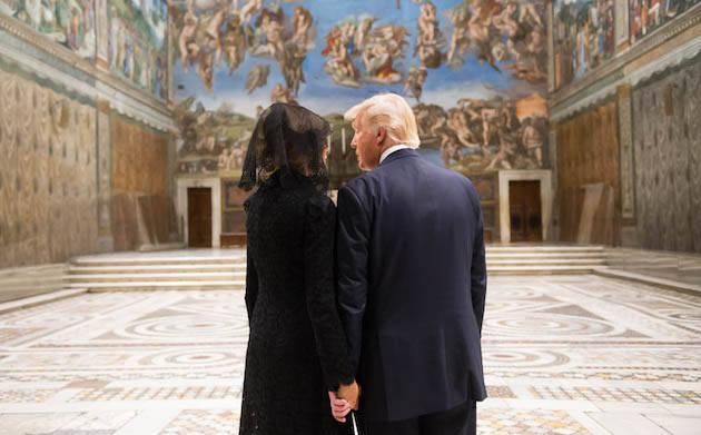 Donald Trump y Melania, en su visita al Vaticano. / POTUS,