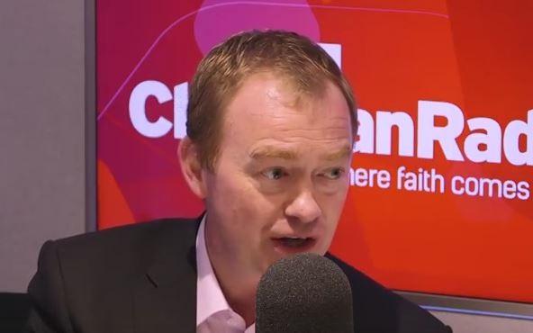 Tim Farron, en la radio Premier. / Premier,
