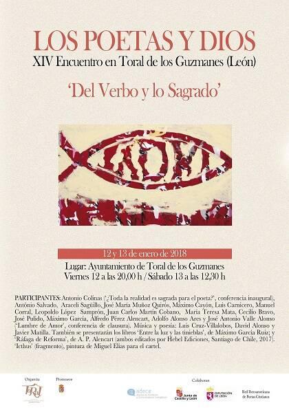 Cartel del XIV Encuentro 'Los poetas y Dios'.