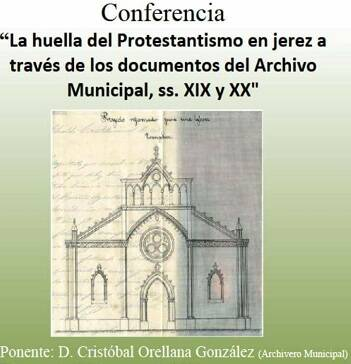 Cartel de la conferencia. / A. Bonilla