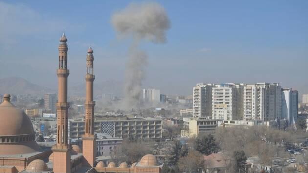 Imágenes de Kabul poco después de la explosión. / Al Jazeera,