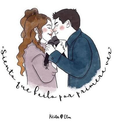 Una ilustración sobre Amaia y Alfred, de la artista Keila Elm. / Instagram Keila Elm
