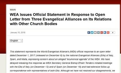 Vista de la respuesta oficial de la AEM en su página web.