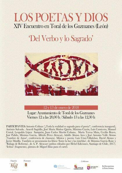 """XIV Encuentro 'Los poetas y Dios' que, bajo el lema """"Del Verbo y lo Sagrado""""."""