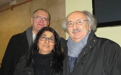 Juan Carlos Martín, Tere Cortés y Antonio Colinas (foto de Jacqueline Alencar)