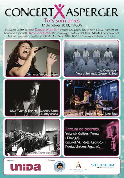 Cartel del concierto que se celebrará el 17 de febrero.