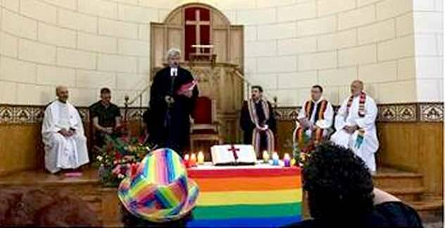 El altar de la IEE con motivo del acto por el Día del Orgullo Gay / IEE,IEE inclusiva, Orgullo gay