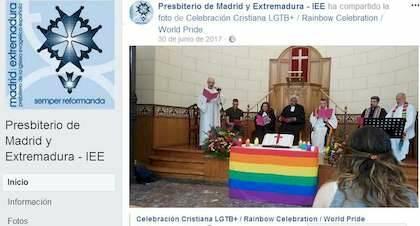 Anuncio de celebración del Día del Orgullo Gay en el facebook oficial de la IEE