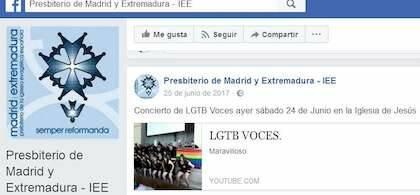 La IEE difunde el Concierto de voces LGTB / IEE