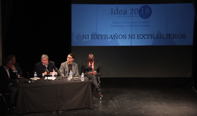 En teatro Mar i Terra lleno acogió el coloquio organizado en Idea2018. / Jonatán Soriano,