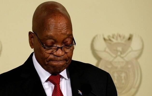 Zuma, durante su discurso de renuncia. / Siphiwe Sibeko, Reuters,