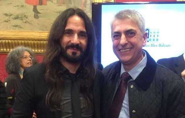 Baltasar Picornell, presidente del parlamento balear, y MIguel Navarro, presidente del Consejo Evangélico de Baleares. / Consell Evangelic de Balears,