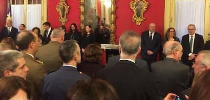 Un momento del acto oficial. / Consell Evangelic de Balears