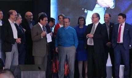 Aarón Lara, tomando la palabra durante el Congreso. / Fb Congreso Iberoamericano por la Vida y la Familia