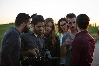 Miembros del equipo de filmación.