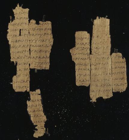Se han encontrado miles de fragmentos antiguos de los evangelios, como este del relato de la última cena de Mateo./ The Trustees of the Chester Beatty Library, Dublin