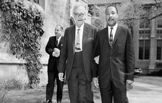 Luther King junto a Karl Barth.,