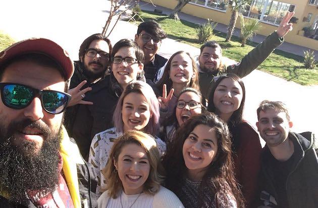Algunos de los integrantes de Mosaico, durante el encuentro en Ugena.,