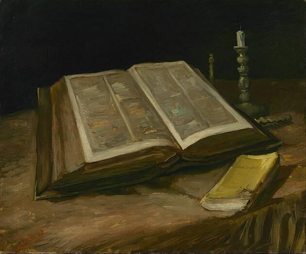 Naturaleza muerta con Biblia, de Vincent van Gogh. ,