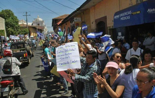 Manifestantes de todo el país se han reunido en Managua. / LaPrensa.,