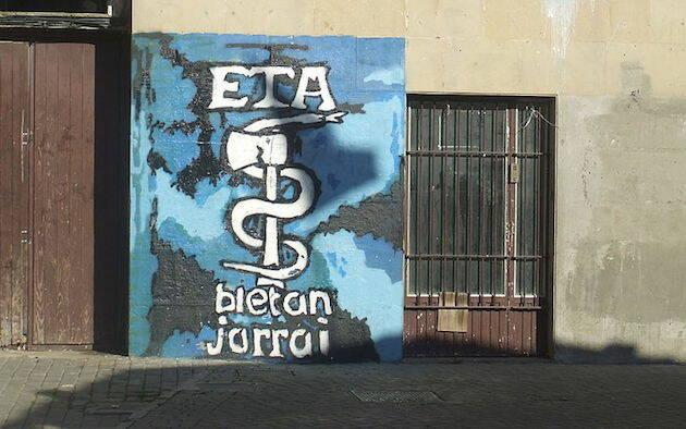 Anagrama de ETA en Altsasu, Navarra, 2008. / Wikimedia,