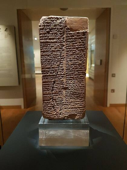 Lista de reyes sumerios.Museo Ashmolean/ Wikimedia Commons.