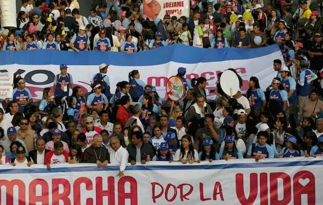 Panorámica de la Marcha por la Vida 2018 en Lima,Marcha por la Vida, Peru Lima