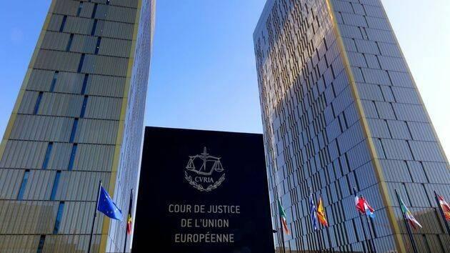 Sede de la Corte de Justicia de la Unión Europea.,
