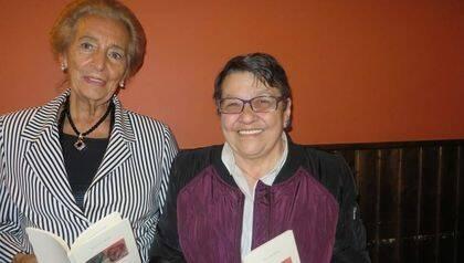 Pilar Fernández Labrador y Lilliam Moro, en Salamanca  (foto de Jacqueline Alencar).