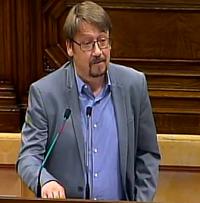 El portavoz de En Comú Podem, Xavier Domènech. / Canal Parlament