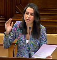 La portavoz de Ciudadanos, Inés Arrimadas. / Canal Parlament