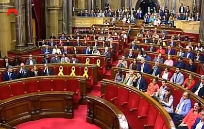 El hemiciclo durante la votación. / Canal Parlament