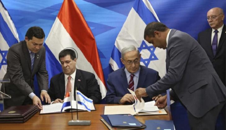 El presidente de Paraguay firma el traslado, junto a su homólogo israelí. / PRNoticias