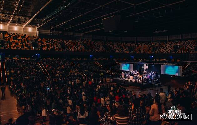 Hasta 2.000 personas se han reunido en el Bilbao Arena con motivo del congreso. / Equipo Multimedia Fade Norte,