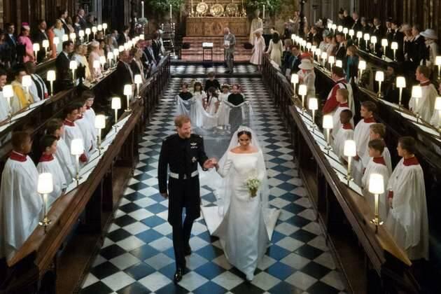 Un momento de la ceremonia / AFP,boda real, enrique meghan