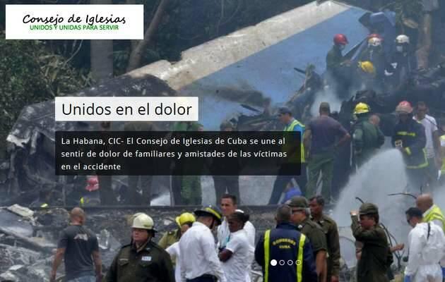 Portada de la web del CIC hoy,CIC cuba, consejo iglesias cuba