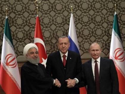Rouhaní, Erdogan y Putin en Ankara. / AP