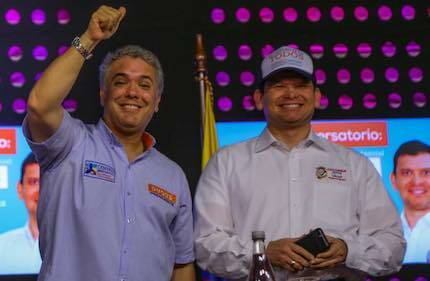 Iván Duque y Jhon Milton, coordinador de Colombia Justa Libres. / Colombia Justa Libres