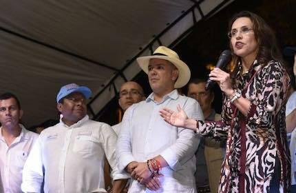 Viviane Morales, en un acto electoral del Centro Democrático. / Fb Viviane Morales