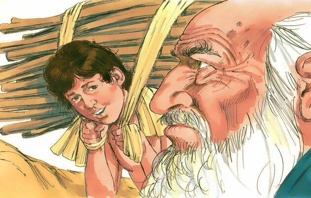 Abraham e Isaac. / Free Bible Images.,
