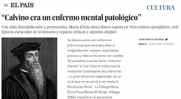 La portada de la última entrevista a Elvira Roca en EL PAÍS,Elvira Roca, leyenda rosa