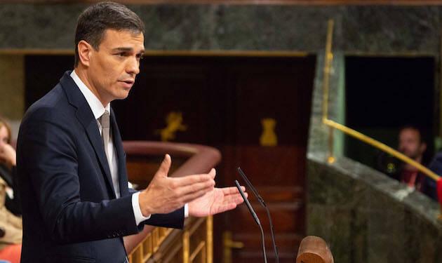 Pedro Sánchez, durante su discurso en la moción de censura. / Congreso.es,