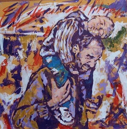 Refugiados, obra de Miguel Elías.