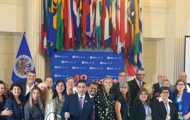 Representación evangélica en la OEA. / Congreso Iberoamericano por la Vida y la Familia,