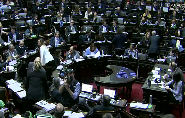 Un momento del debate en el hemiciclo argentino. / Cámara de Diputados,